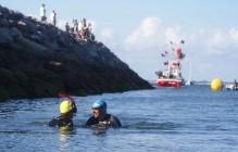 7km de natation entre l'île Dumet et Piriac-sur-Mer. Il faut savoir mouiller sa combinaison pour faire connaître l'AFNP.