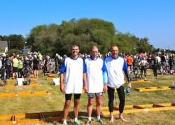Claude Tréhudic champion de France Handisport & Christophe Mathieu nageur champion du monde et JP Plançon composaient l'équipe.